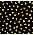 Abstract modern pattern with gold foil stars vector image