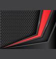 abstract red arrow on gray metal circle mesh vector image