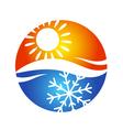 Air conditioning logo symbol vector image