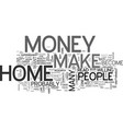 are you ready to make money from home text word vector image vector image