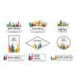 bar menu design collection set badges vector image vector image