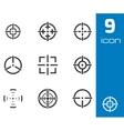 black crosshair icons set vector image vector image