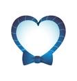 bowtie heart cloth male man gentleman icon vector image vector image