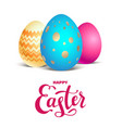 bright eggs card vector image vector image