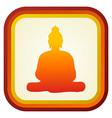 Buddha silhouette ilustration vector image