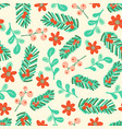 christmas floral elements seamless pattern vector image vector image