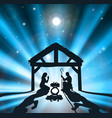 christmas nativity vector image