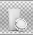 coffee cup mockup vector image vector image