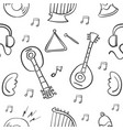 collection of music object doodle vector image vector image