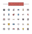Colored Business Line Icons vector image vector image
