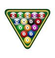 complete billiard balls vector image vector image