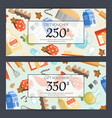 cooking groceries discount or gift card vector image vector image