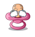 crying cartoon pacifier for a newborn baby vector image