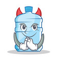 devil gallon character cartoon style vector image