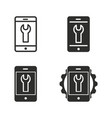 digital interaction icon set vector image vector image