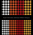 eight halloween seamless pattern design collection vector image