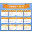 European Calendar for 2017 Week starts on Monday vector image