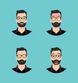 flat character set bread man vector image