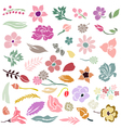 floral design elements set vector image vector image