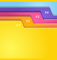 Folder tab set vector image vector image