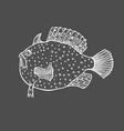 funny fish sketch vector image