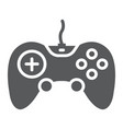 gamepad glyph icon technology and entertainment vector image vector image
