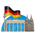 german landmarks vector image vector image