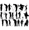 Golfer silhouettes vector | Price: 1 Credit (USD $1)