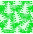 Green Pattern with Fir Trees vector image