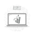 hand draw business concept vector image vector image