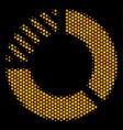 hexagon halftone pie chart icon vector image vector image