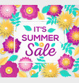 it is summer sale - modern colorful vector image vector image