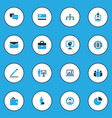 job colorful icons set collection of local area vector image vector image