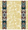 lace border stripe in ornate floral background vector image vector image