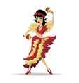 Latina beautiful girl dancing with maracas vector image vector image
