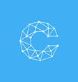 logo letter c dots lines vector image vector image