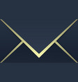 luxury patterns dark blue and gold gradient vector image vector image