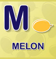melon alphabet background vector image