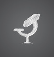 Microscope sketch logo doodle icon