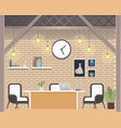 modern freelance coworking workplace loft style vector image vector image