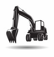 monochrome excavator icon vector image