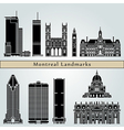 Montreal landmarks and monuments vector image