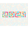 mosaic sign for 2021 year calendar dots style vector image