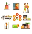 moving and repair web icon set vector image