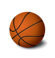 orange basketball ball icon isolated on white vector image vector image