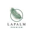 palm leaf logo icon vector image vector image