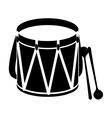 parade drum icon image vector image