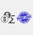 pixel dollar sum icon and distress budget vector image vector image