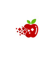 pixel fruit logo icon design vector image