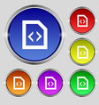 Programming code icon sign Round symbol on bright vector image vector image